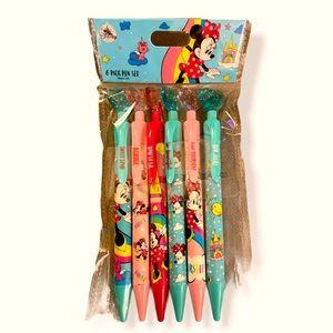 NEW DISNEY PARKS PEN SET   6 Minnie Mouse pens